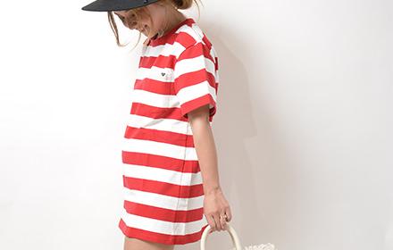 ワイドシルエットなボーダーTシャツはレディライクにカジュアルに!
